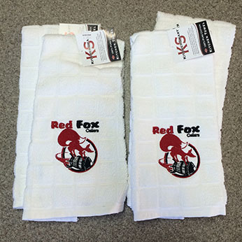 American Stitched Red Fox Hand Towels
